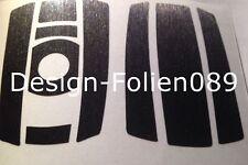 Schwarz Gebürstet Schlüssel Folie BMW Key 1,3er 5er X5 X E60 E70 E90 E91 E92 E93