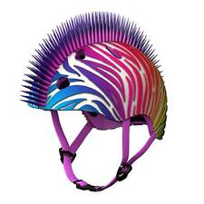 TuffNutZ Credz Mohawk Rainbow Zebra Kids 3D Protective Bicycle Safety Helmet 8+