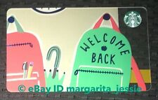 """STARBUCKS CANADA 2018 GIFT CARD """"WELCOME BACK"""" TO SCHOOL NEW NO VALUE BACKPACK"""