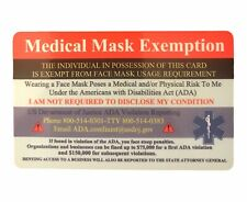Travel Face Mask Exemption Card