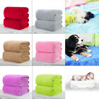 Super Soft Solid Warm Micro Throw Blanket Rug Plush Fleece Bed Quilt Sofa Home