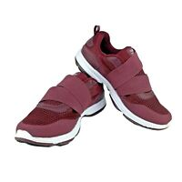 Ryka Devotion Plus Devo Cinch Burgundy Red Strap-in Walking Shoes Womens Size 8W