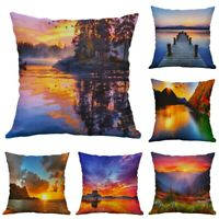 """Sunset Pillow Cushion Scenery Sofa Covers Case Waist Home 18"""" Cover pillow Decor"""