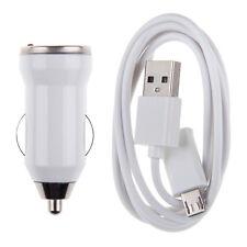 Caricabatteria carica Auto + Cavo cable Dati Micro USB per Samsung Galaxy LG HTC