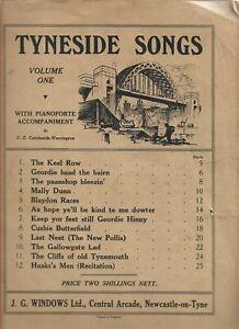 Tyneside Songs Volume  One with Pianoforte Accompaniment CATCHESIDE-WARRINGTON,