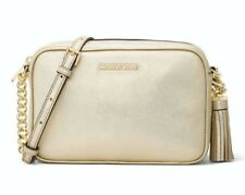 Michael Kors Ginny Medium Camera Bag Gold NWT