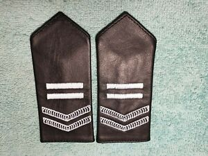 NSW POLICE  obsolete leather epaulettes.