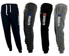 New Men's Skinny Fleece Jogger Track Pants Slim Cuff Trackies Sweat Trousers