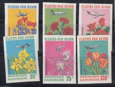 Timbres du Gabon sur fleurs