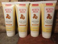 Burt's Bees Fragrance Free Shea Butter & Vitamin E Body Lotion 6 OZ. 4 pack #k1