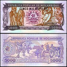Mozambique 5,000 (5000) Meticais, 1989, P-133b, UNC