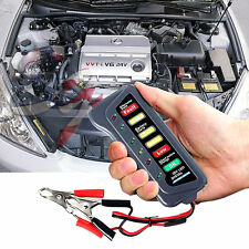 12V Car Motorcycle Digital Battery Alternator Load Tester 6 LED Display Vehicle