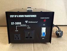 Nuevo transformador de tensión 3000 vatios estados unidos transformador 230v-110v Converter 3000w 100v
