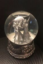 Wallace Silversmiths 2000 First Edition Musical Angel Snow Globe in Orig Box Vgc