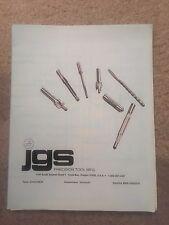 Jgs Precision Tool Reamer catalog and price list 1987