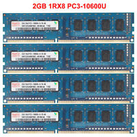 For Hynix 2GB 4GB 8GB 1Rx8 PC3-10600U DDR3-1333MHZ 1.5V DIMM Desktop Memory