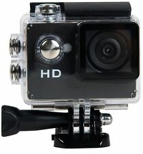 Tec+ 720P HD Action Camera with Mounting Accessories TecPlus Waterproof - Black