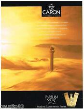 PUBLICITE ADVERTISING 095  1990  CARON parfum femme PARFUM SACRE