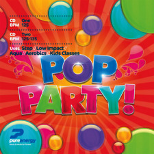 Pure Energy Pop Party Double Aerobics Fitness Music CD's with 42 Tracks