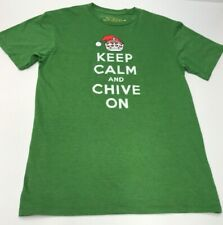 Chive *Authentic* Keep Calm and Chive On Christmas Mistletoe Men's M t-shirt