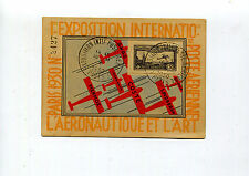France 1930 C6a 1.50Fr on Paris Int'l Air Post Expo Postcard - Expo Postmark