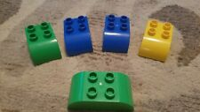 Lego Duplo Lot Of 5 Specialty Blocks 2x2 2x3 2x4 Curved Arch Green Blue Yellow