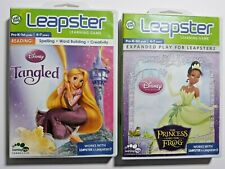 Lot of 2 Leapster game cartridges Disney Tangled, Princess and the Frog in cases