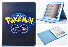 Per Apple iPad 2 3 4 GRANDE POKEMON Go Fun kids cartoon FOLIO STAND CASE COVER