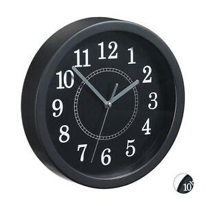 Kleine Wanduhr Classic Küchenuhr Wohnzimmeruhr Uhr Wand 20cm Weiß/Schwarz