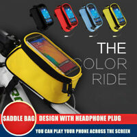 Cycling Bike Bicycle Front Frame Pannier Tube Bag For Mobile Phone Accessories N