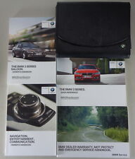 Owner's Manual + Cartera BMW 3-Series Saloon F30 316i 320i 330d Etc. From 6/2013