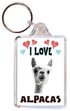 I Love Alpacas / Alpaca - Double Sided Large Keyring Key Ring Fob Chain Gift