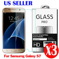 3X New 0.3mm 9H Tempered Glass Screen Protector Film Guard For Samsung Galaxy S7