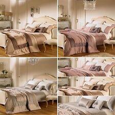 Double Duvet Set - Embellished 'Romantica' Design - Heather, Silver Double Duvet