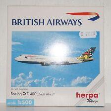 Herpa Wings British Airways Boeing 747-400 South Africa 1:500 511414 (r2_2_41)