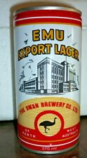 Collectable beer cans -  Emu Export Lager 370ml crimp steel can