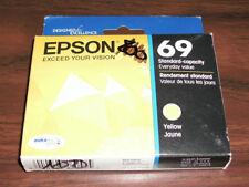 Sealed Box Genuine Epson 69 T0694 Yellow Ink Cartridge T069420 11/2017