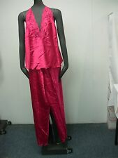 Pretty Ralph Montenero Sexy Pink Halter Top & Pant Pajamas Size Small Petite