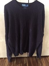 Ralph Lauren  NWT 100% CASHMERE  Crew Neck Long Sleeved Cable Sweater $400 Xl