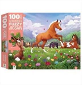Horsing Around: Fuzzy Jigsaw 100 Piece