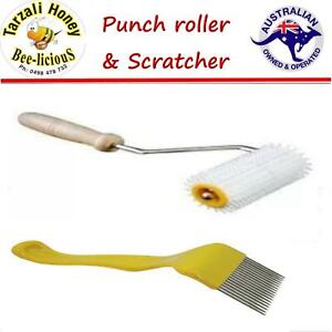 BEEKEEPING TOOLS  PUNCH  ROLLER &  SCRATCHER  Stainless tines