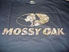 Mossy Oak Men's Hunting Deer Black & Camo T-Shirt Size XL