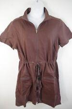 Jordon Taylor NEW Brown Pocket Zipper Swimsuit Beach Coverup Womens Plus 2x