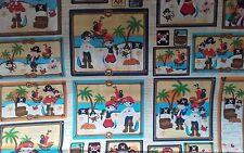 Patrón De Pirata Para Niños paneles de tela de algodón de coser manualidades 1/2 metros