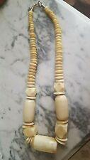 Vintage Hand Craved Bone bead necklace