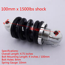 100mm Rear Shock Suspension Spring 1500lbs For 47cc 49cc Mini Pocket Bike Moto