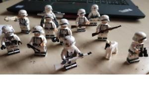 WW2 10 Pcs Minifigures lego MOC 101st Soldier Military Army US Helmet Guns
