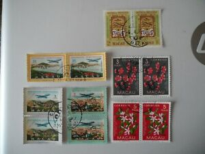 6 X  Macau 1950-70's high values include key def top values in pair all VFU