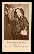 """santino-holy card""""S.LUCIA FILIPPINI"""