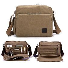 Men's Canvas Shoulder Bag Travel Bag Daypack Weekend Sling Bag Multi-pocket Hand